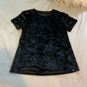 Kids Velvet Short Sleeve Shirt